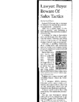 Lawyer-Buyer Beware of Sales Tactics (Albuquerque Journal, April 23, 2002)