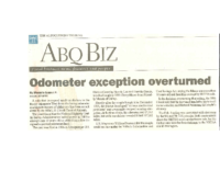 Odometer Exception Overturned (Albuquerque Tribune, February 26, 1998)
