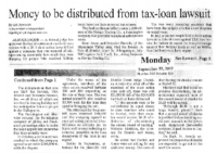 Money to be Distributed from Tax-Loan Lawsuit (Gallup Independent, September 25, 2017)