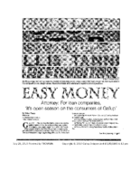 Easy Money (Gallup Independent, July 25, 2015)