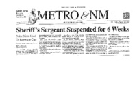 Sheriff's Sergeant Suspended for 6 Weeks (Albuquerque Journal, August 24, 2007)