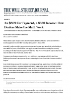 An $809 Car Payment, a $660 Income: How Dealers Make the Math Work (WSJ, December 21, 2019)